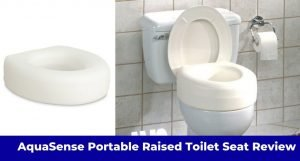 Aquasense Portable Raised Toilet Seat Review: 4 Inches high And White