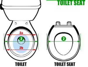 measure a toilet seat