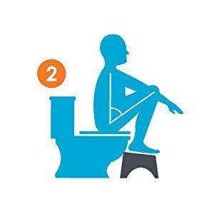 Squatty on toilet