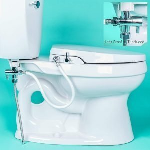 GenieBidet Seat Self Cleaning Dual Nozzle Toilet Seat