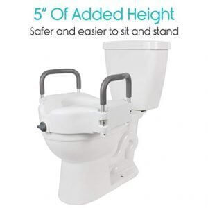 Vive Toilet Seat Riser with Handles