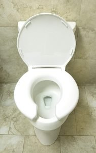 open front toilet seat