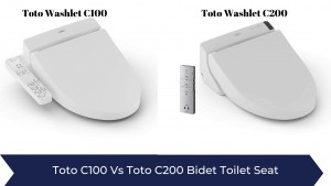Toto C100 Washlet vs Toto C200 Washlet Bidet Toilet Seat - Whats The Difference?