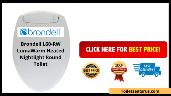 Brondell L60-RW LumaWarm Heated Nightlight Round Toilet